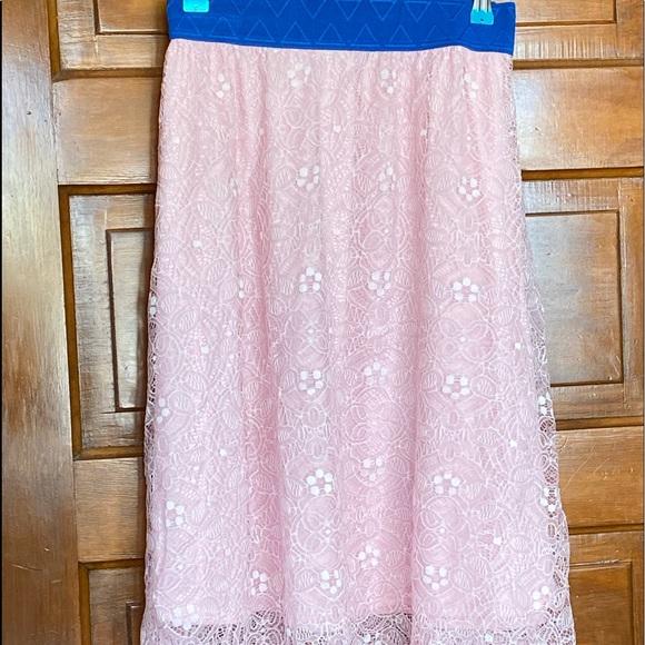 Light pink lace LLR Lola skirt.